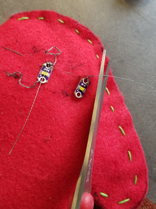 Re-sewing the circuit